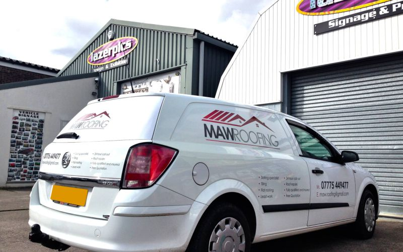 Maw Roofing Signwriting