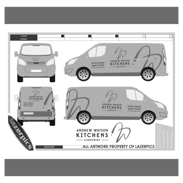 Vehicle Signwriting, Livery, Decals from us here at Lazerpics in newton Abbot, Torquay, Exeter, Plymouth, Teignmouth, Totnes, Paignton and beyond.