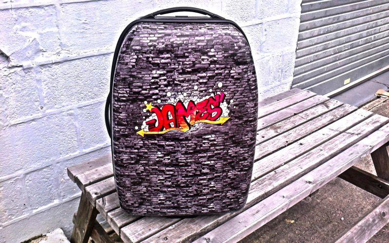 Suitcase Vinyl Wrap Newton Abbot
