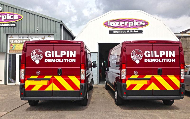 Gilpin Demolition Vehicle Graphics by Lazerpics in Newton Abbot
