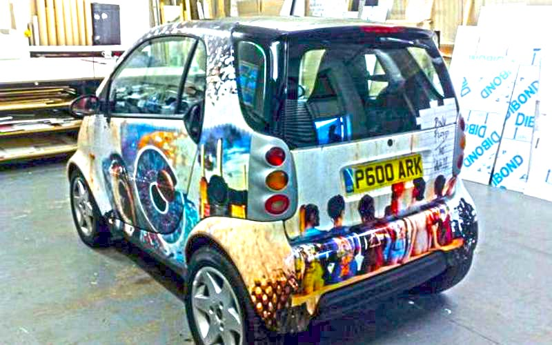 Smart Car Wrap Newton Abbot