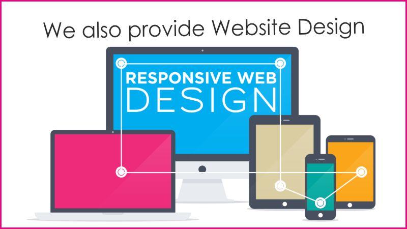 We also provide website design